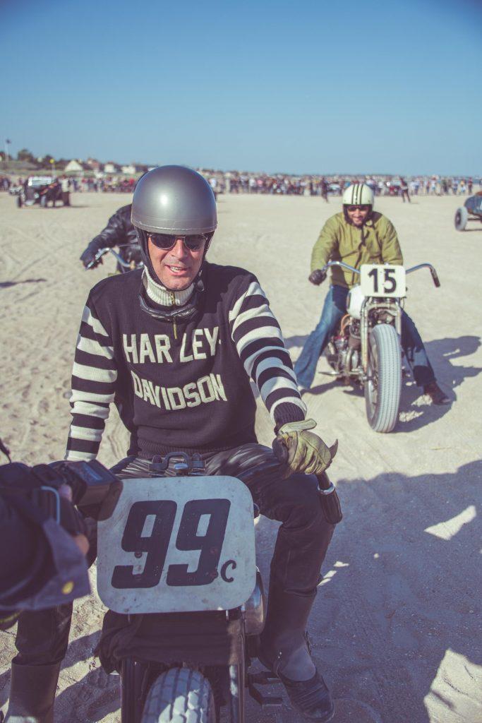Pull moto vintage Garage Français, pull Harley Davidson vintage